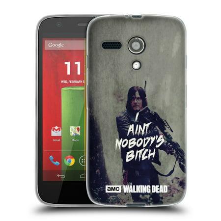 OFFICIAL AMC THE WALKING DEAD TYPOGRAPHY SOFT GEL CASE FOR MOTOROLA PHONES 2 (Motorola Open)
