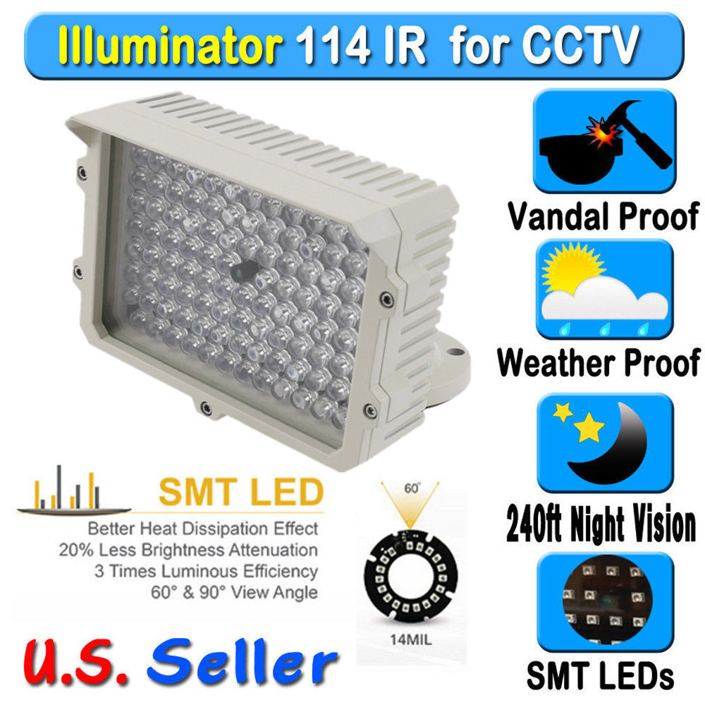 114 Led Infrared Ir Illuminat Lamp For Ip Cctv Ccd