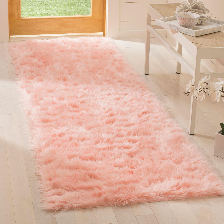 Safavieh Faux Sheep Skin Vesna Solid Plush Area Rug
