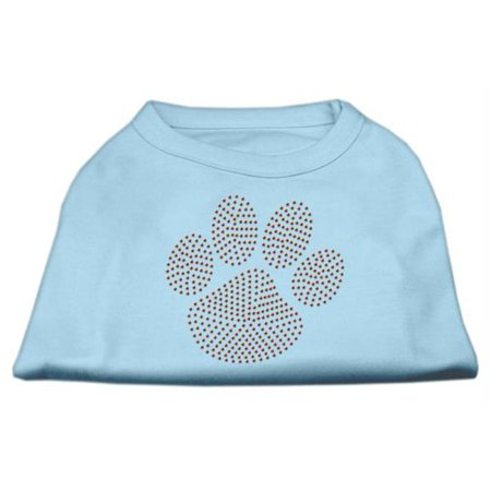orange paw rhinestud shirts baby blue xl 16. Black Bedroom Furniture Sets. Home Design Ideas