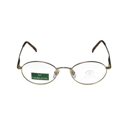 06959b63d96 Paolo Gucci 7418r 50-20-140 Matte Gold Full-Rim Eyeglasses Frame -  Walmart.com