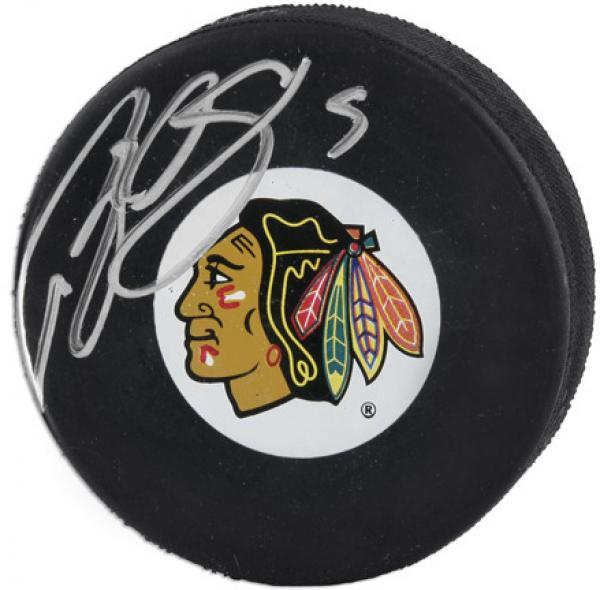 Chicago Blackhawks Brent Sopel Autographed Puck - Fanatics Authentic Certified
