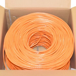 Premiertek 1000Ft Cat6 23AWG CCA UTP 4-pairs Premium Network LAN Cable - Orange