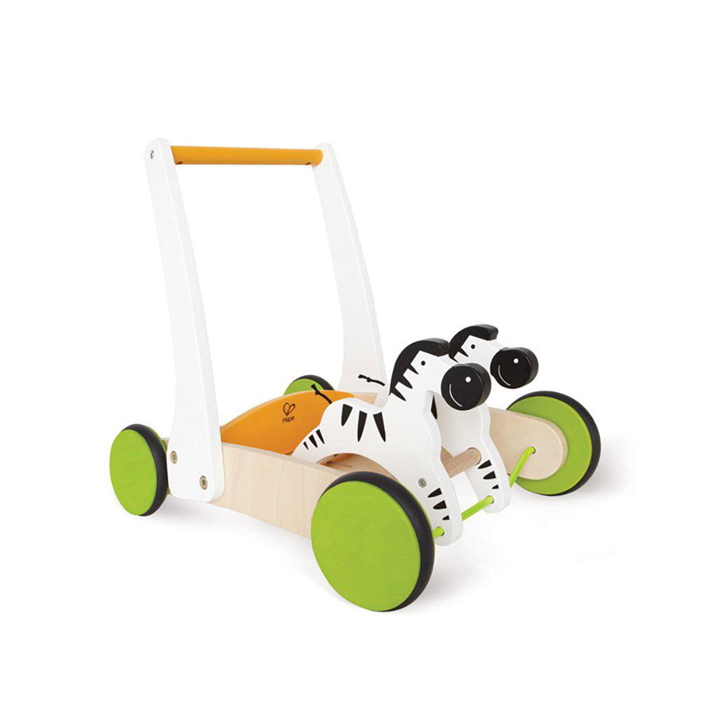 Hape Galloping Zebra Cart Toddler Kids Baby Wooden Push Walker Activity Toy by HaPe