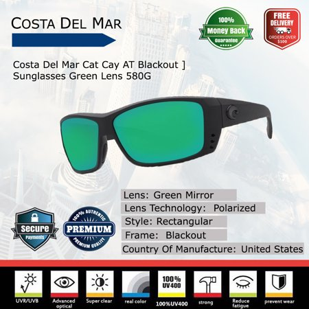 Costa Del Mar Cat Cay AT Blackout Sunglasses
