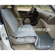 """Formosa Covers Deluxe quilted and padded single car seat cover 21""""Wx72""""L Grey"""