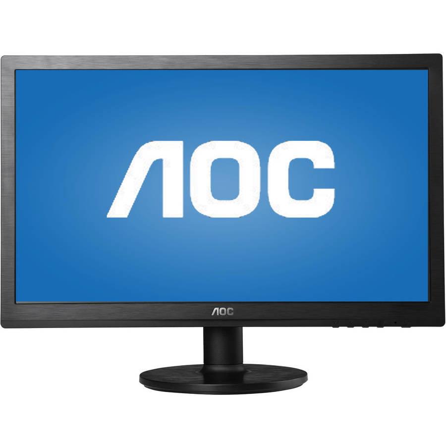 "AOC Monitor 20"" Class Full HD 1920x1080 Wide Viewing Angle Panel VGA DVI-D M2060SWD2"