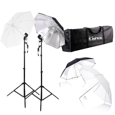 Studio Lighting Umbrella Light - Zimtown Photography Studio Bulb Lamp Umbrella Light Stand Set Continuous Lighting Kit