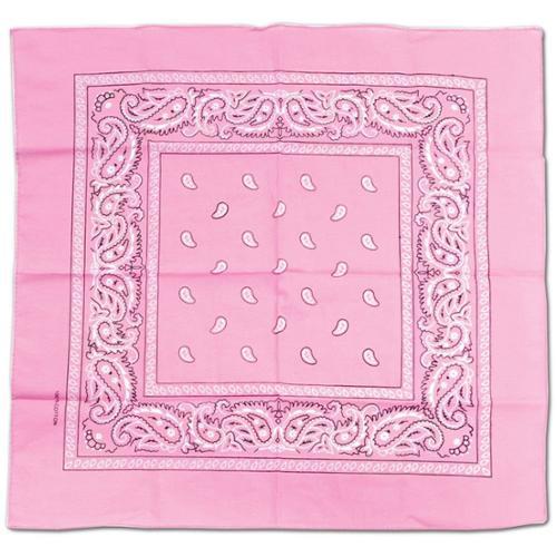 Pink Bandana (Each) - Party Supplies