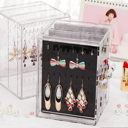 OCDAY Transparent Women Jewelry Display Shelf Practical Desktop Earrings Holder Rack - image 7 of 10