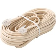 50FT 6-WIRE MOD TEL CORD WHT PREMIUM RETAIL BLISTER PACK