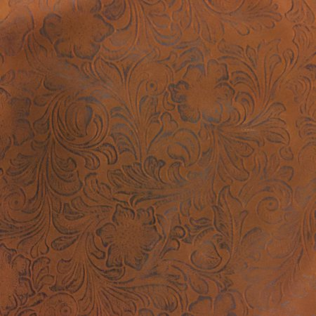 Stingray Printed Leather (SHASON TEXTILE FAUX LEATHER JACOBEAN PRINT UPHOLSTERY FABRIC, BROWN)