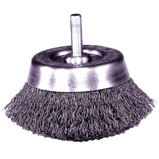 Weiler 804-14317 2-. 50 inch Crimped Wire Cup Brush, . 014, . 25 inch Stem -Uc-2-1-