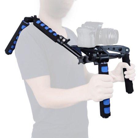 Mcoplus 107D Foldable DSLR Shoulder Rig Set Movie Kit Camera Shoulder Support Mount System for Canon Nikon Sony Panasonic Sony DSLR Cameras & Video