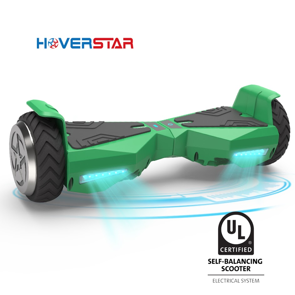"Hoverboard 6.5"" UL 2272 Listed Two-Wheel Self Balancing Electric Scooter with LED Light Green"