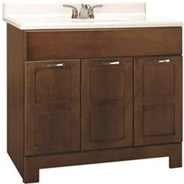 Rsi Home Products Chandler Bathroom Vanity Cabinet Fully Assembled Cognac 36x21x33 1 2 Walmart Com Walmart Com