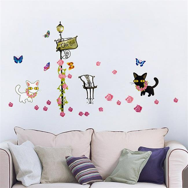 Kitty Couple - Wall Decals Stickers Appliques Home Decor - image 1 de 1
