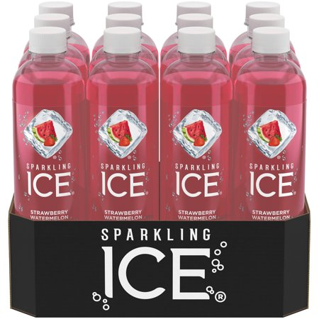 Sparkling Ice Naturally Flavored Sparkling Water, Strawberry Watermelon, 17 Fl Oz, 12 Count - Halloween Drinks Dry Ice Alcoholic