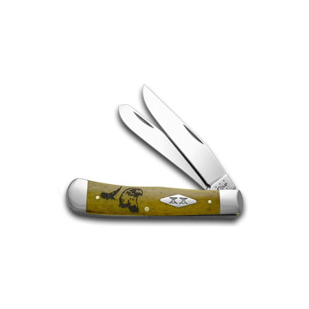 CASE XX Antique Bone Eagle Trapper 1/500 Pocket Knife Knives