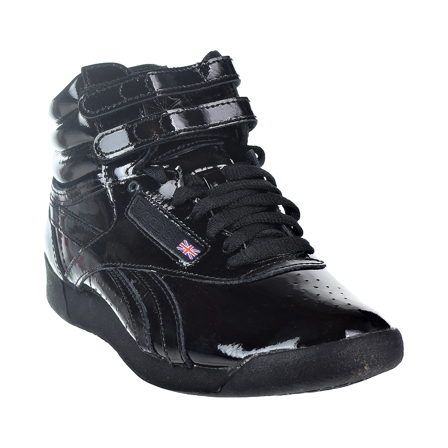 a1e56725845 Reebok Classic Freestyle Hi Patent Women s Shoes Black cn2822 - Walmart.com