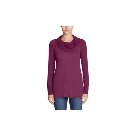 Eddie Bauer Women's Stine's Favorite Waffle Cowl-Neck Tunic Christine Stine Bauer was Eddies wife, and the creator of the original line of womens clothing at Eddie Bauer. This pullover tunic reflects her style, a mix of practical performance with attractive design. Cotton/polyester/spandex waffle-knit fabric provides soft comfort and excellent shape retention.