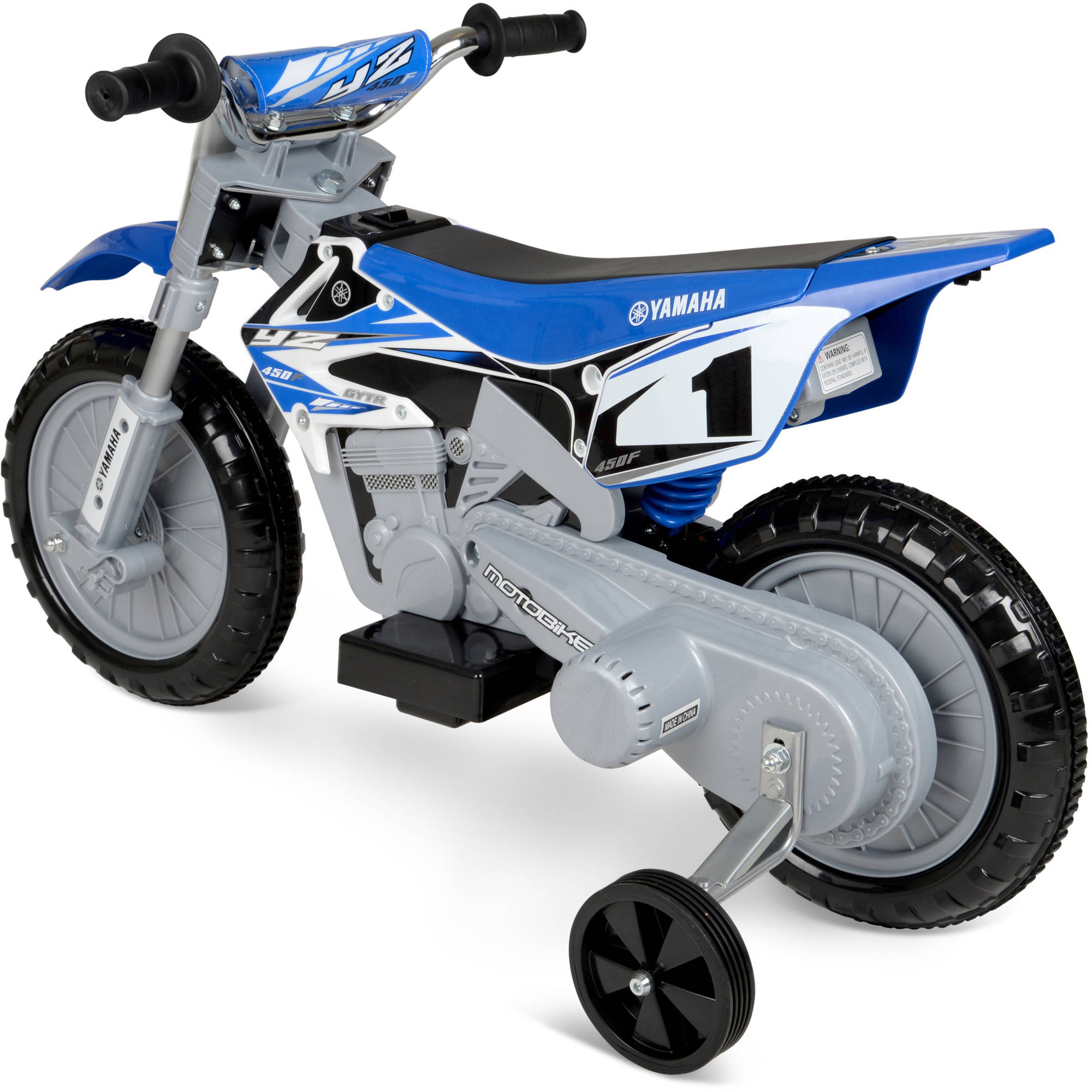 Yamaha 6 volt motorcycle blue kids ride electric fast for Electric yamaha motorcycle
