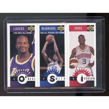 1996-97 Collector's Choice Mini Cards #M152 Allen Iverson / Shaquille O'Neal