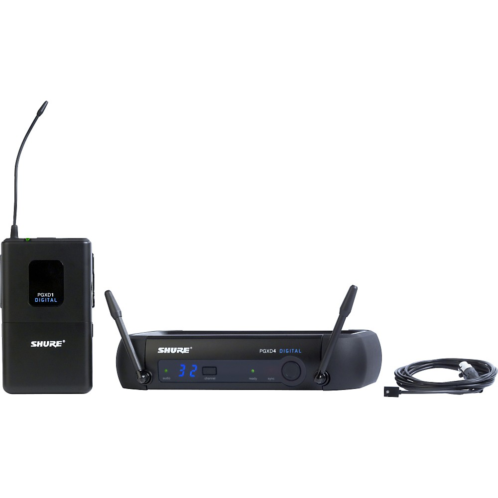 Shure PGXD14 93 Digital Wireless Lavalier System with WL93 Lavalier Microphone, X8... by Shure