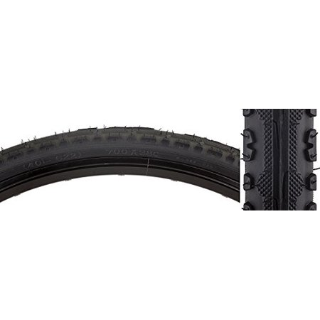 Hybrid Kross Plus Tires, 700 x 38, Black/Black, Trail/road tire with raised center, assertive lateral lugs By