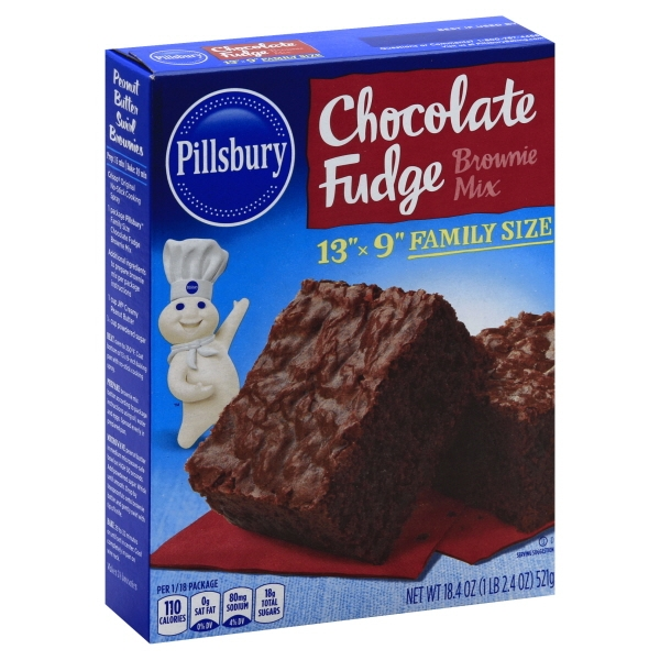 (4 Pack) Pillsbury Chocolate Fudge Brownie Mix, 18.4 oz