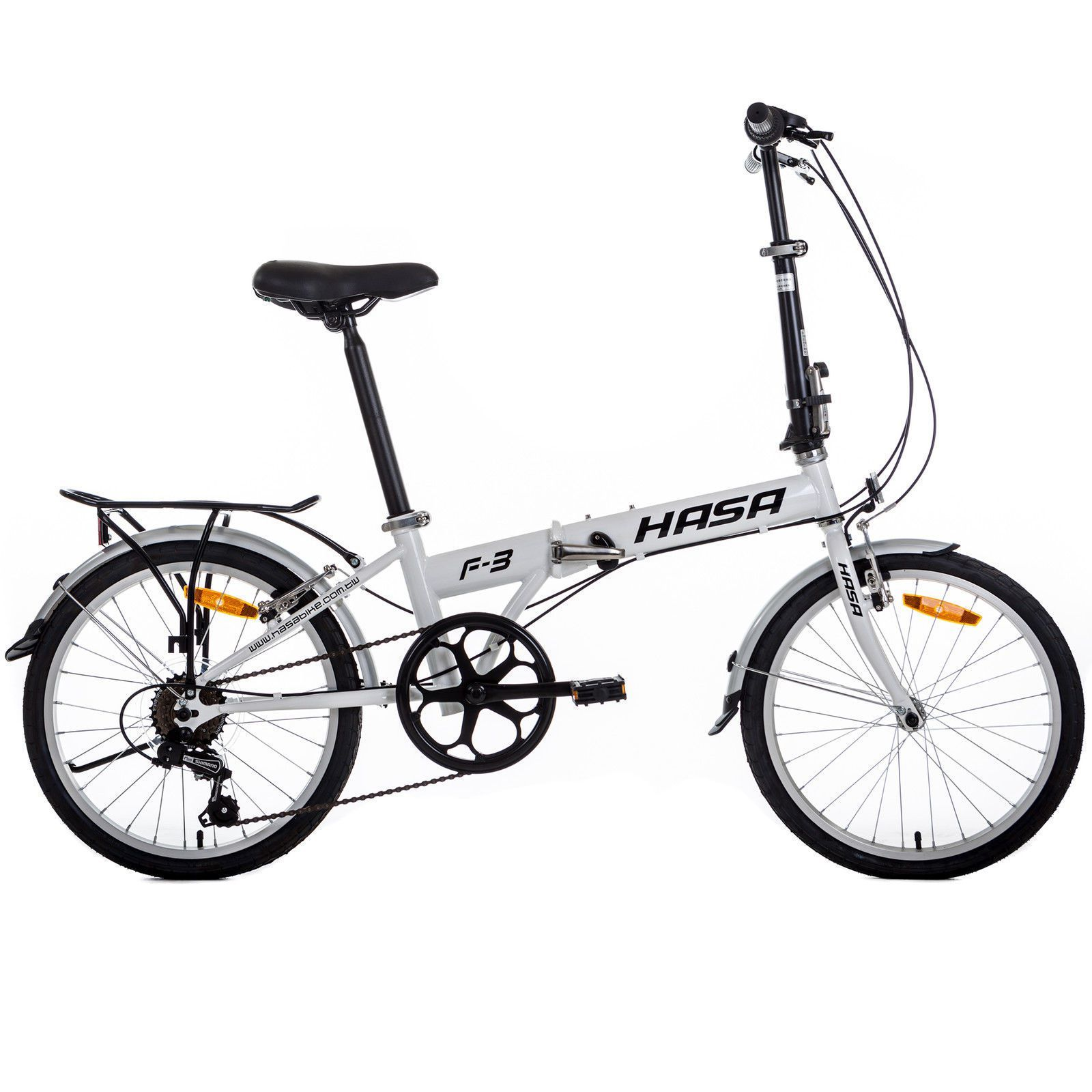 HASA Folding Foldable Bike Sram 6 Speed White
