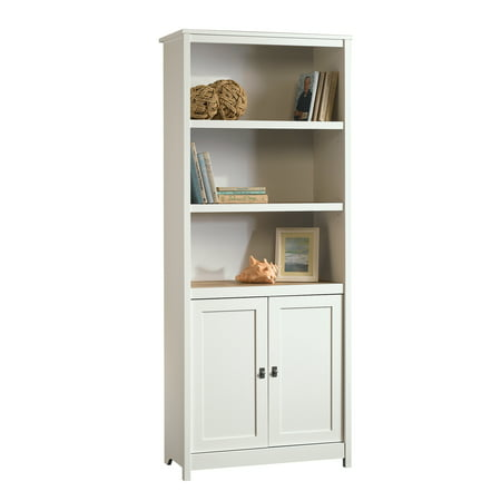 Sauder Cottage Road Library with Doors, Soft White Finish ()