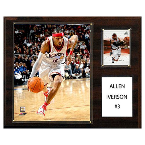 C and I Collectables NBA 15W x 12H in. Allen Iverson Philadelphia 76ers Player Plaque