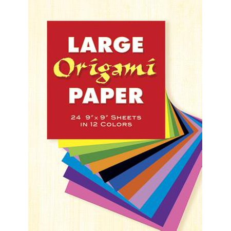 0cedecc62a4 Large Origami Paper   24 9 X 9 Sheets in 12 Colors - Walmart.com