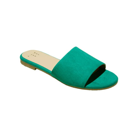 A New Day Women Jozie Casual Open-Toe Slide Sandals Green 5