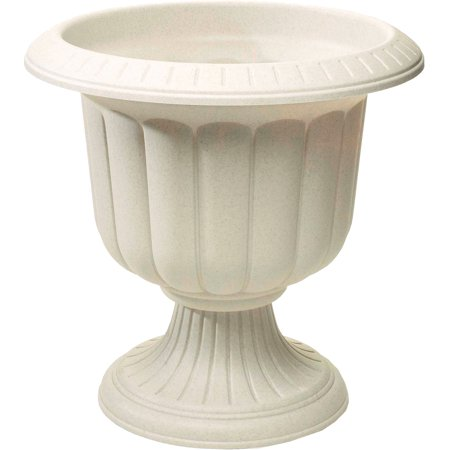 - NOVELTY MFG CO Planter, Classic Urn, Stone Resin, 14-In. 38146