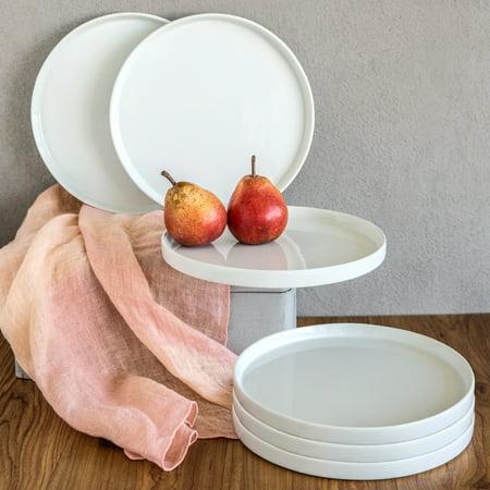 Better Homes And Gardens Modern Rim Salad Plates White Set Of 6
