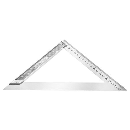 200mm Triangle Square Ruler Stainless Steel Right Angle Measuring Tool