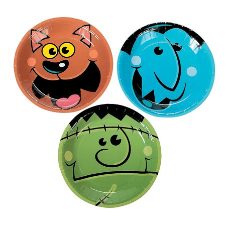 Fun Express - Boo Bunch Dessert Plates (8pc) for Halloween - Party Supplies - Print Tableware - Print Plates & Bowls - Halloween - 8 Pieces (Halloween Desserts For Party)