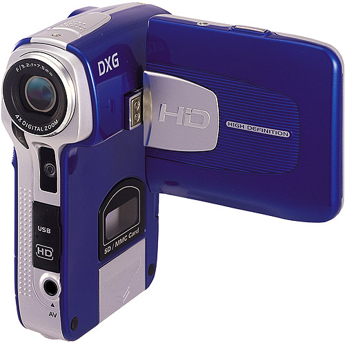 "DXG 579V Blue Camcorder 5MP, 4x Digital Zoom, 2.4"" TFT Display, Records 720p High-Definition Video"
