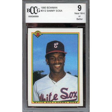 1990 bowman #321 SAMMY SOSA chicago cubs rookie card BGS BCCG 9 ()