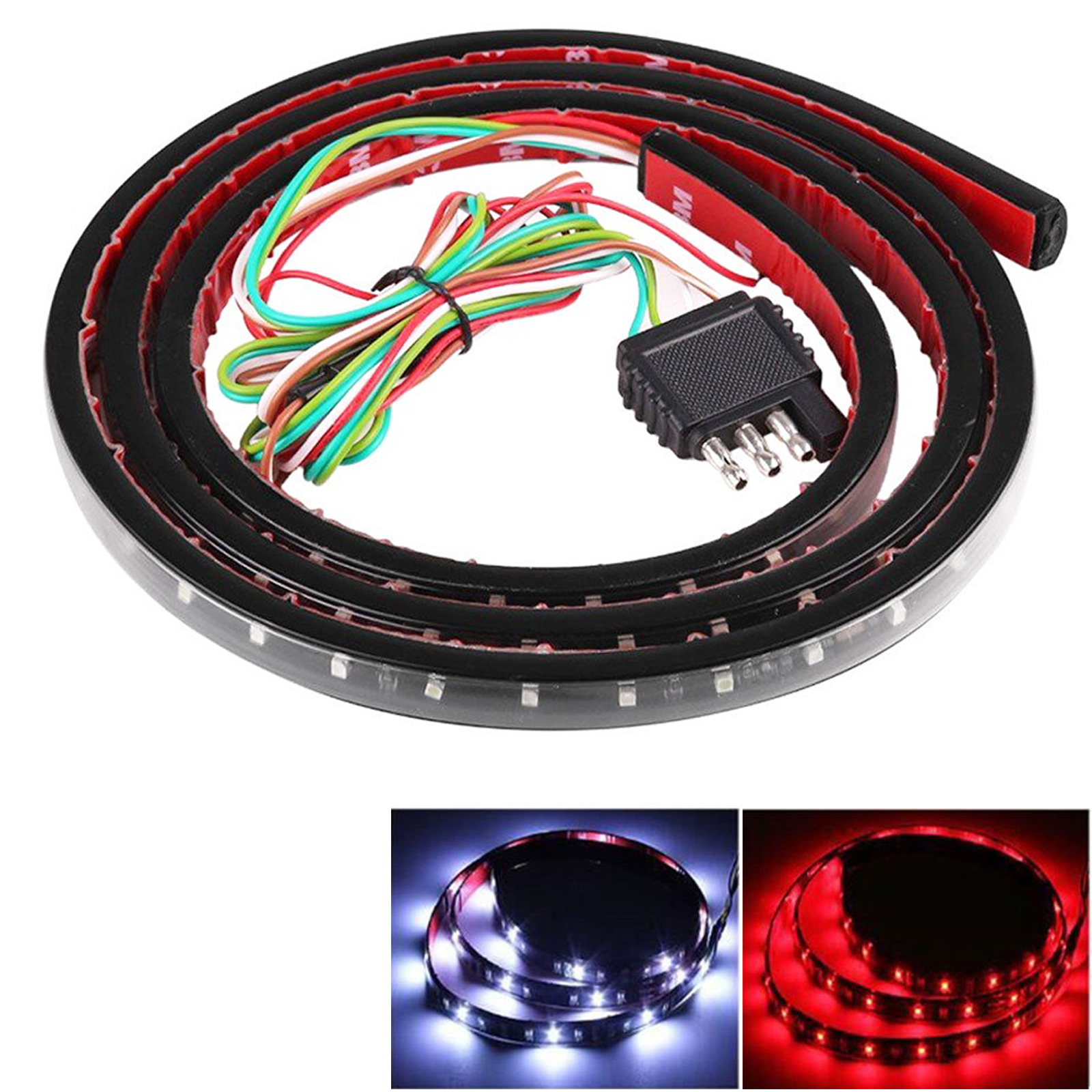 "60/"" 5-Function LED Strip Tailgate Bar Brake Turn Signal Light for Truck Pickup"
