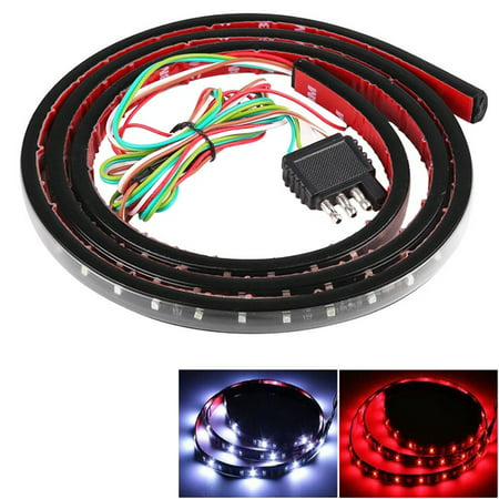 60 inch Truck Tailgate Light Bar Strip, Weatherproof LED Flexible, 5-Function Rear Tail Lights Lamp for Pickup Trucks SUV (Brake, Turn Signal, Running, Reverse Backup)