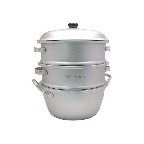 10 inch 3-Tier Aluminum Steamer by By Wok Shop by