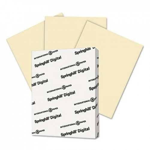 "Springhill - 3 Pack - Digital Index Color Card Stock 90 Lb 8 1/2 X 11 Ivory 250 Sheets/Pack ""Product Category: Paper & Printable Media/Cards & Card Stock"""