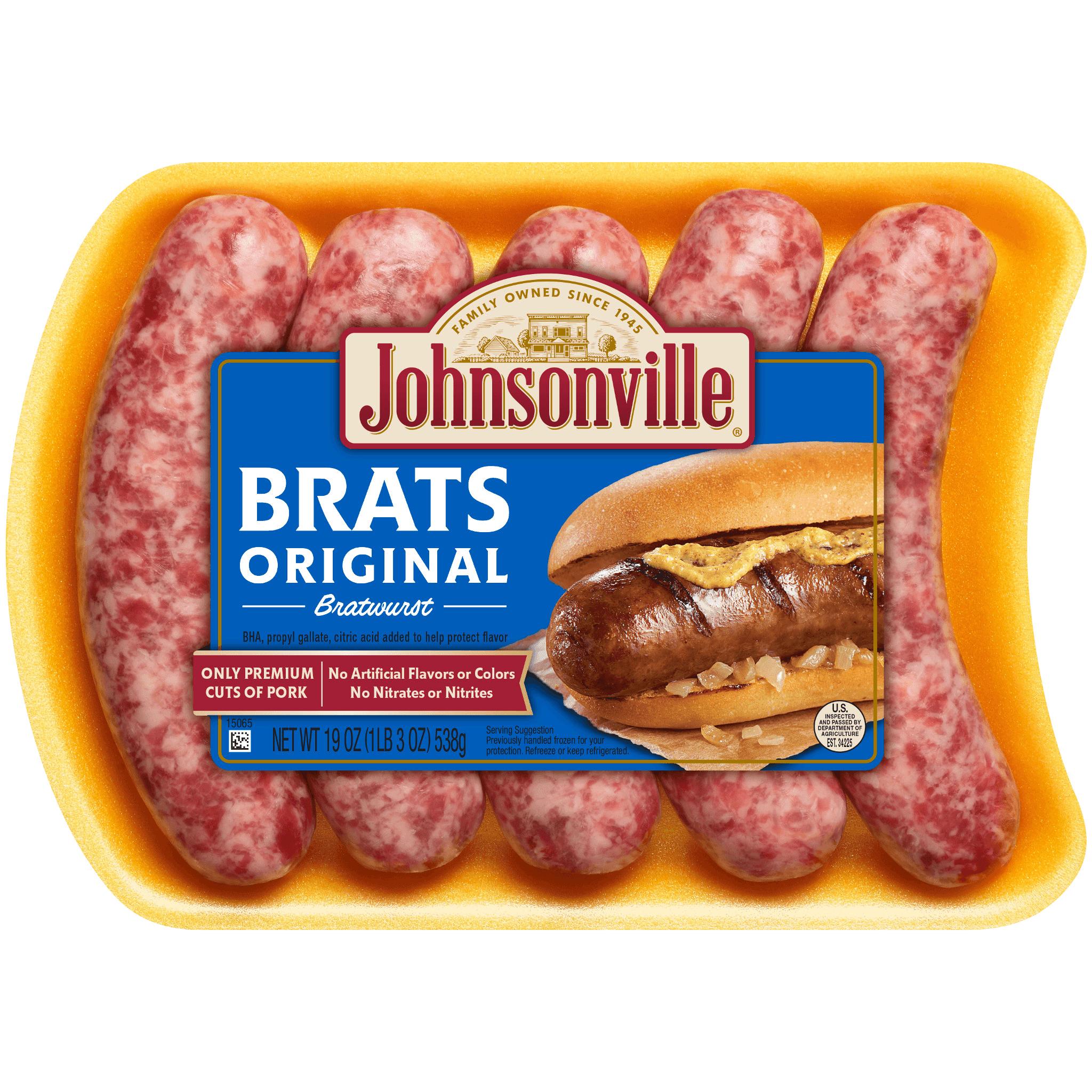 Johnsonville Fresh Pork Sausage Links Bratwurst Original 19oz