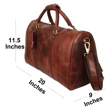 Leather Duffel Bags For Men Women - Airplane Underseat Carry On Luggage By Rustic  Town - Walmart.com cbf40453a7c93