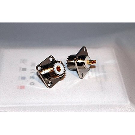 2x UHF Female Jack SO239 Panel Chassis Mount Connectors; US Stock; Fast