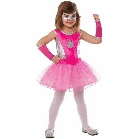 Asda Girls Halloween Costumes (Marvel Pink Spider-Girl Girls' Child Halloween)