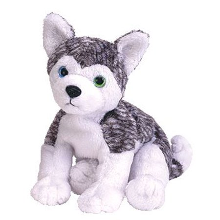 TY Beanie Baby - MUKLUK the Husky Dog (blue & green eyes) (5.5 - Baby Blue Dot